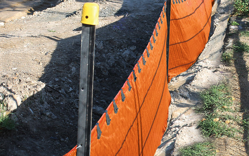 Orange Safety SiftFence